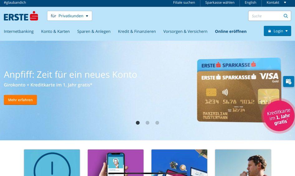 Kontoführung bei einer der größten Banken aus Österreich